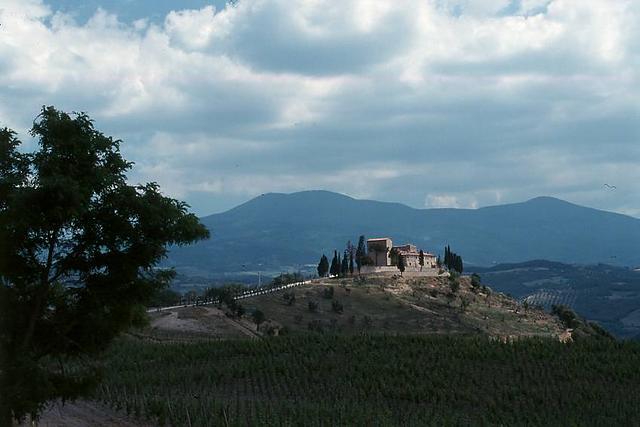 Monte Amiata, in Wolken
