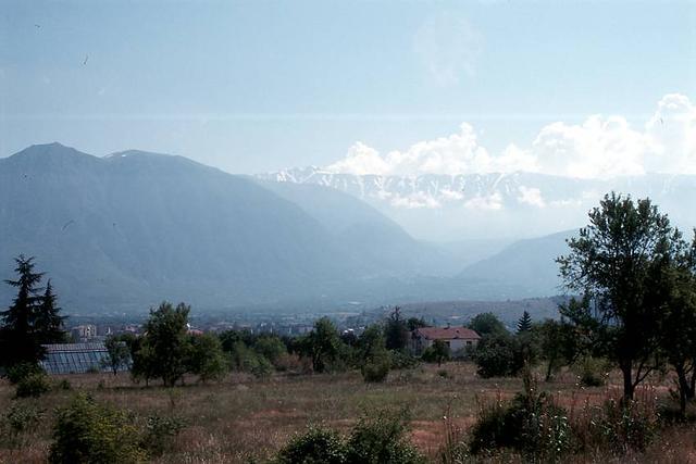 Solmona, die ersten Wolken über den Bergen