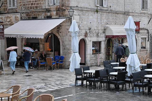 In Trogir regnet es noch
